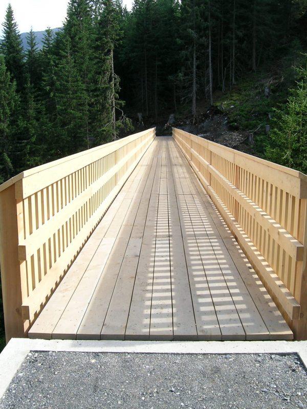 Neubau Holzbrücke Punt Val Mulin, Lumbrein │ Gesamte Planung / Statik / Bauleitung